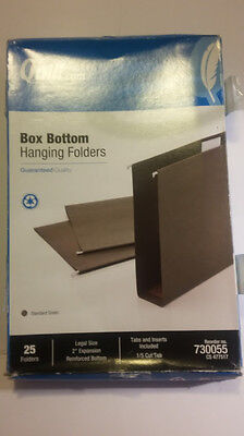 Quill 730055 Box Bottom Hanging File Folders Legal Size 2 Expansion 25ct 15cut