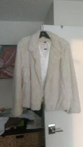 2 Faux Fur evening Jackets, size large, perfect condition