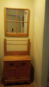 Antique Washstand and Mirror