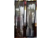 2 Large B/W Posters - New York - Empire State Building and Chrysler Building