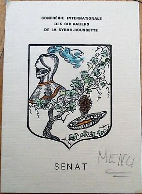 French Menu: Confrerie Internationale des Chevaliers de la Syrah-Roussette, Wine