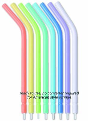 Dental Disposable Air-water Syringe Tips Spectrum Colors 250 Pcs