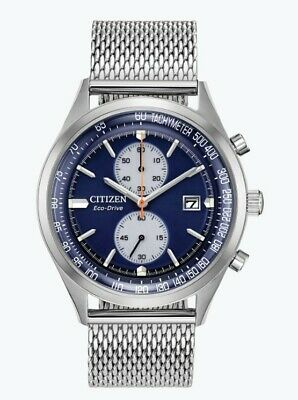 Citizen Men's Eco-Drive Chandler Chronograph Blue Dial 43mm Watch CA7020-58L