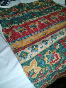 Matching pair of duvet covers for single beds
