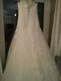 anna sorrano white wedding dress size 12