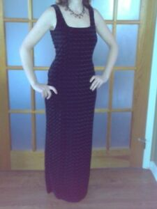 Black velvet Dress size small