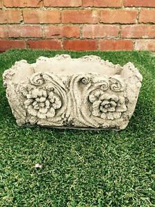 Rustic Wood Pot Planter Latex & Fibreglass Garden Ornament Mould/Mold