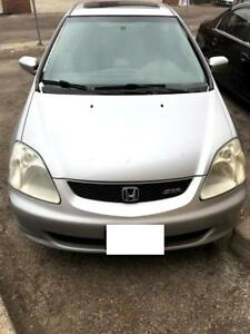2002 Honda Civic SIR EP3 for PARTS! Silver in color!