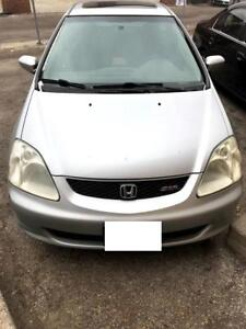 parting out the 2002 Honda Civic SIR EP3 for PARTS! Silver in co