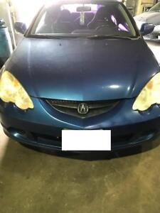 auto parts off a 2002 Acura RSX Type S blue k2oa2