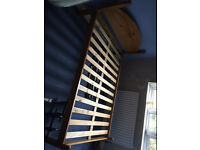 Solid pine double bed with mattress