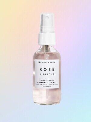 Herbivore ROSE HIBISCUS Face Mist 2oz New 100% AUTHENTIC & FRESH GUARANTEED! 🌸
