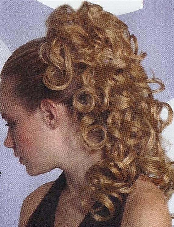 Blonde Curly Ponytail Hairpiece W Drawstring Pageant Bun