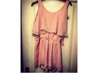 Pink Chiffon Play Suit - Size M/L