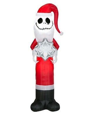 Nightmare Before Christmas 5.5' Inflatable Yard Jack Skellington Decoration NEW