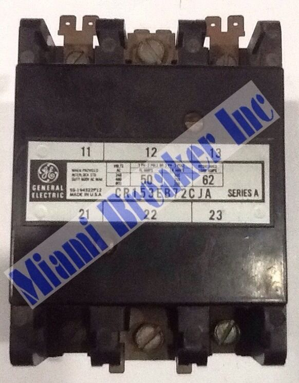 General Electric CR153EB72CJA Contactor 50A 120V 3 Pole Unit