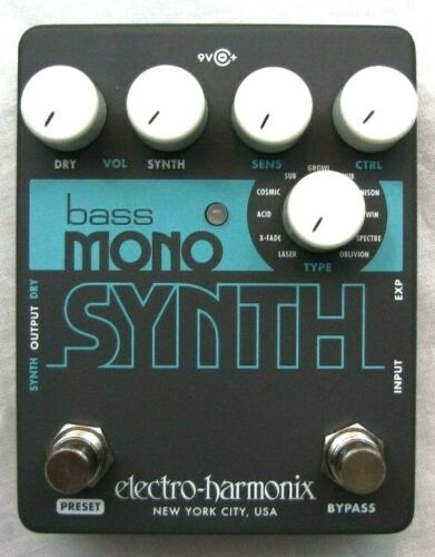 Used Electro-Harmonix EHX Bass Mono Synth Synthesizer Guitar Pedal