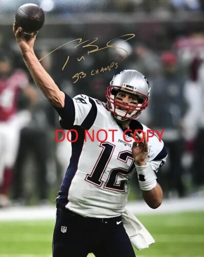 TOM BRADY 8X10 AUTHENTIC IN PERSON SIGNED AUTOGRAPH REPRINT PHOTO RP