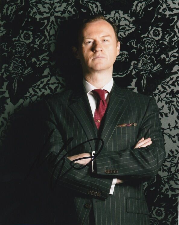 Mark Gatiss Sherlock Autographed Signed 8x10 Photo COA B