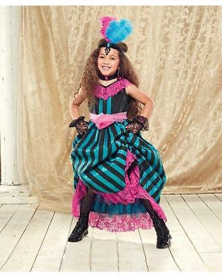 NWT CHASING FIREFLIES 12-14 CAN CAN DANCER COSTUME/HEADBAND/GLOVES/TIGHTS - Can Can Costume