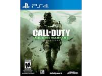 Call of duty remastered for ps4 sell or swap