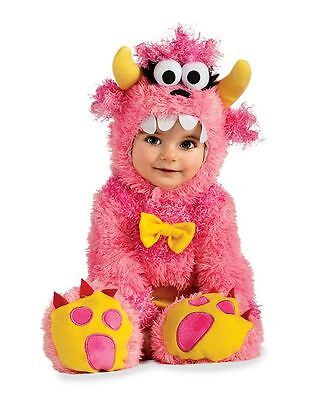 CHASING FIREFLIES BABY TODDLER LITTLE PINK MONSTER COSTUME Jumpsuit 12-18 MONTHS