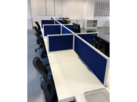 call centre office desks / pods 8 man pod