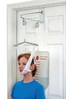 Over Door Cervical Traction Kit Neck Back Stretcher Adjustment Chiropractic