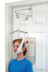 Over Door Cervical Traction Kit Neck Back Stretcher Adjustment Chiropractic