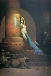 EGYPTIAN QUEEN - FRAZETTA ART POSTER - 24x36 FANTASY 806