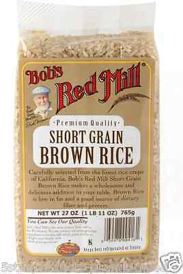 Low Fat Organic Brown Rice - NEW BOB'S RED MILL SHORT GRAIN BROWN RICE LOW FAT DIETARY FIBER PROTEIN LUNCH