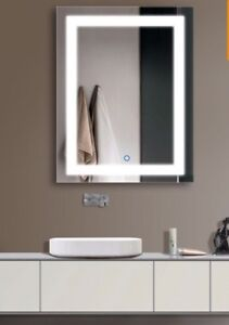 28 X 36 In Vertical LED Bathroom Mirror With Touch Button