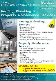 DAVE LEYLAND HEATING AND PLUMBING & PROPERTY MAINTENANCE GAS SAFE registered