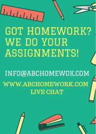 Homework done by experts!