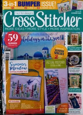 New English cross stitch magazine Cross Stitcher Issue 371 July 2021