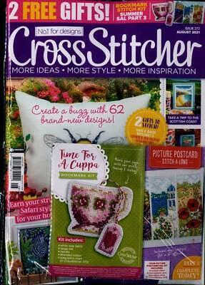 New English cross stitch magazine Cross Stitcher Issue 373 August 2021