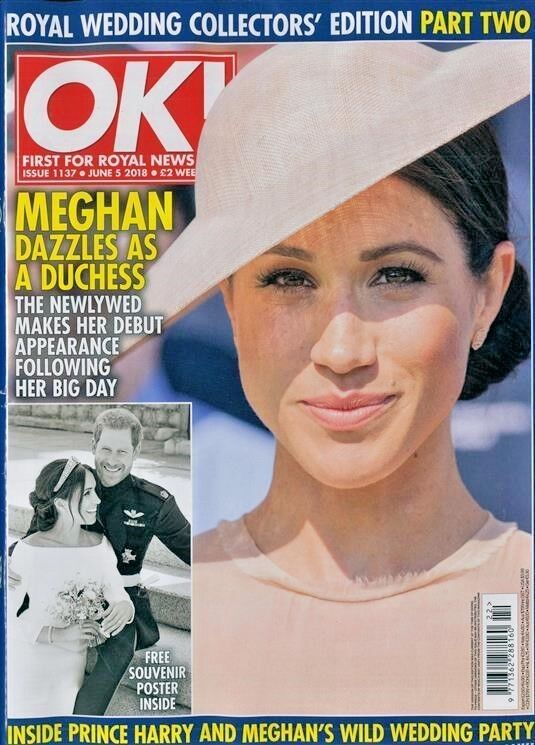 OK MAGAZINE ISSUE #1137 JUNE 5th 2018 ~ ROYAL WEDDING COLLECTORS EDITION PART 2