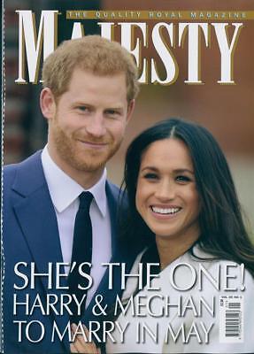 Prince Harry   Meghan Markle Engaged Majesty Magazine January 2018