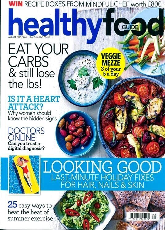 Details About Healthy Food Guide Magazine Issue August 2018 New