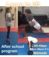 After school learn to lift