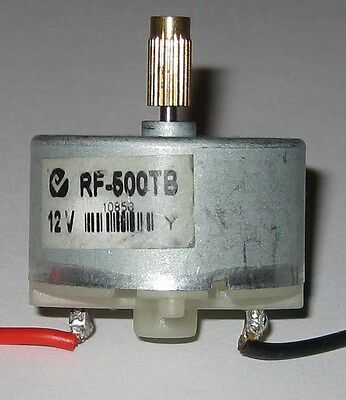 Rf-500 Low Current Motor - 3 To 12 Vdc - 2400 Rpm Solar Motor W 5mm Brass Gear