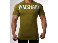 Gymshark, fitted gym t-shirt in Khaki