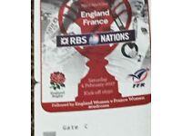 Six nations ,England vs France