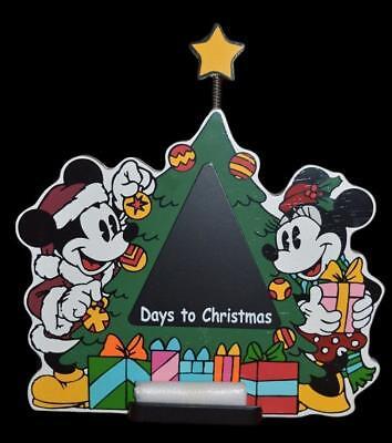 NIB 2005 DISNEY SHOPPING MICKEY CHRISTMAS COUNTDOWN CHALKBOARD ADVENT CALENDAR