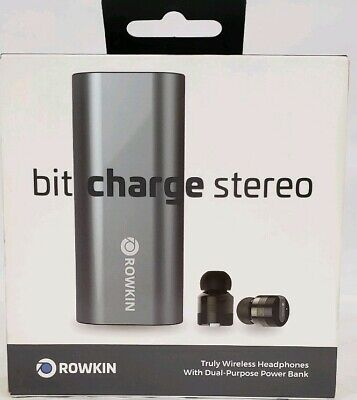 Rowkin Bit Charge Stereo Truly Wireless Bluetooth Earbuds Space Gray RKWSP8