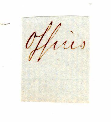 Robert E. Lee - Original Autograph Clip - Commander of the Confederate CSA Army