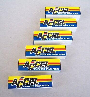 6 Pack Accel U-Groove Resistor Race Spark Plug 8190 574 Set of 6 Plugs