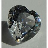 Heart cut 10x10 mm 4 ct Real VVS D White Sapphire Brilliant Solitaire Cut Stone