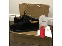 Mens christian louboutins junior suade spikes size 8