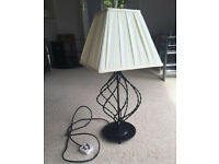 **Reduced Price** Black metal table lamp with shade